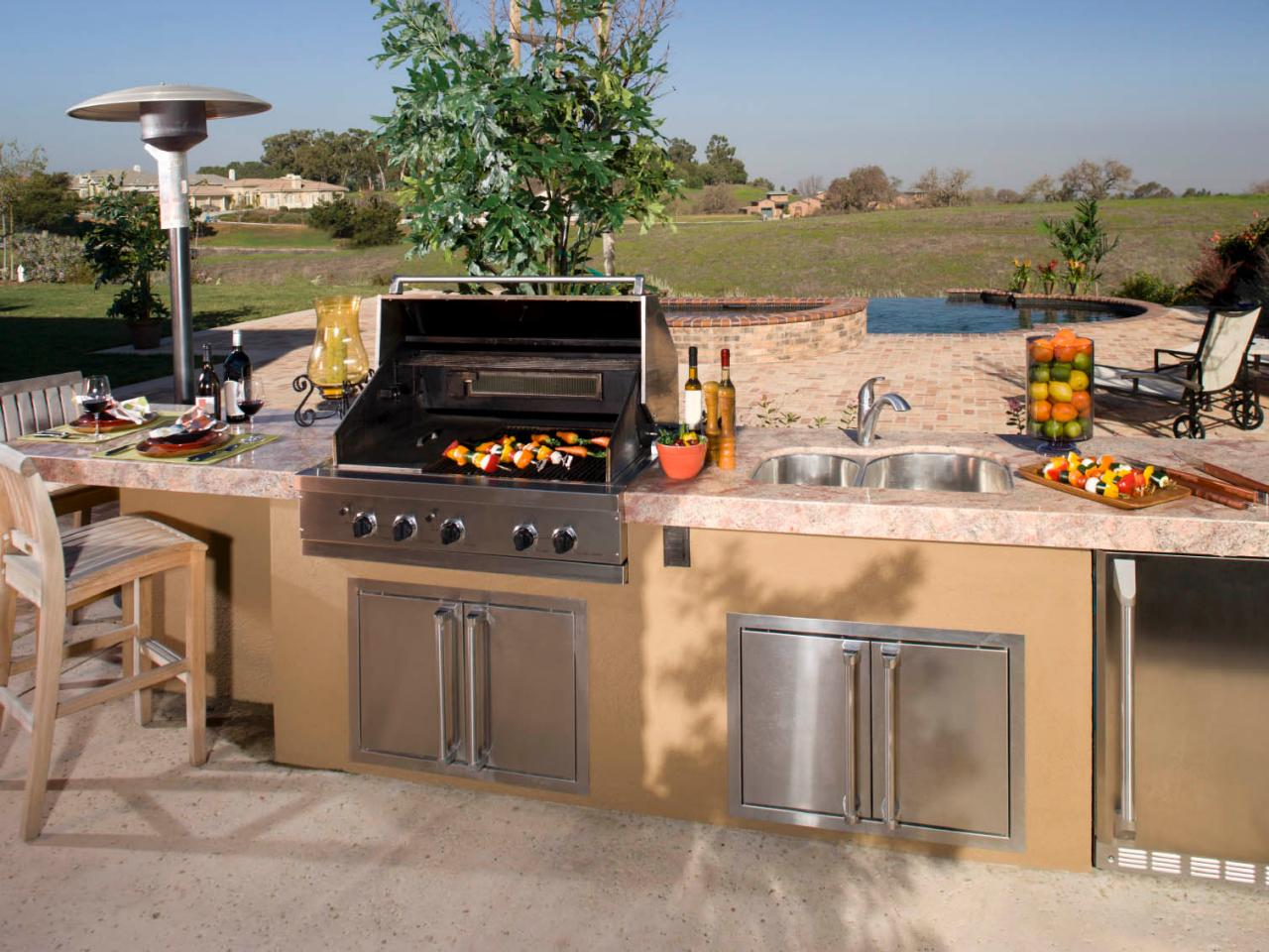 cheap outdoor kitchen ideas hgtv 25 best ideas about outdoor kitchen patio on pinterest