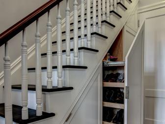 Staircase Entryway With Storage