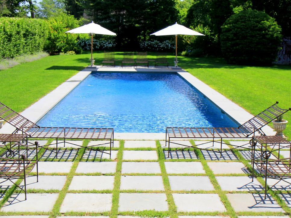 a basic backyard gets a posh pool makeover john cowen hgtv