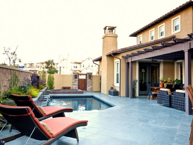 Patio With Pool, Jacuzzi and Seating