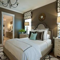 Transitional Master Bedroom brown transitional master bedroom photos | hgtv