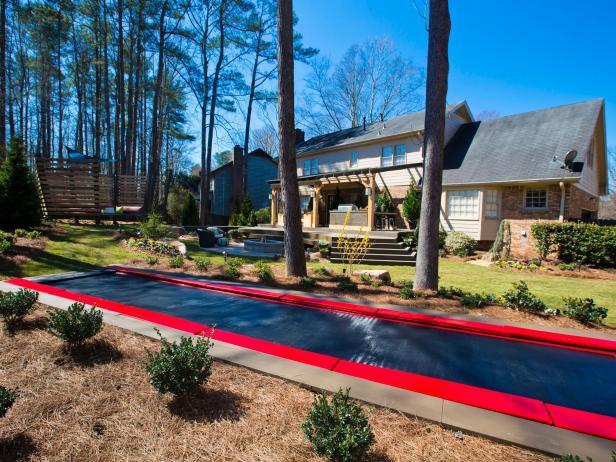 Backyard Fun With Trampoline