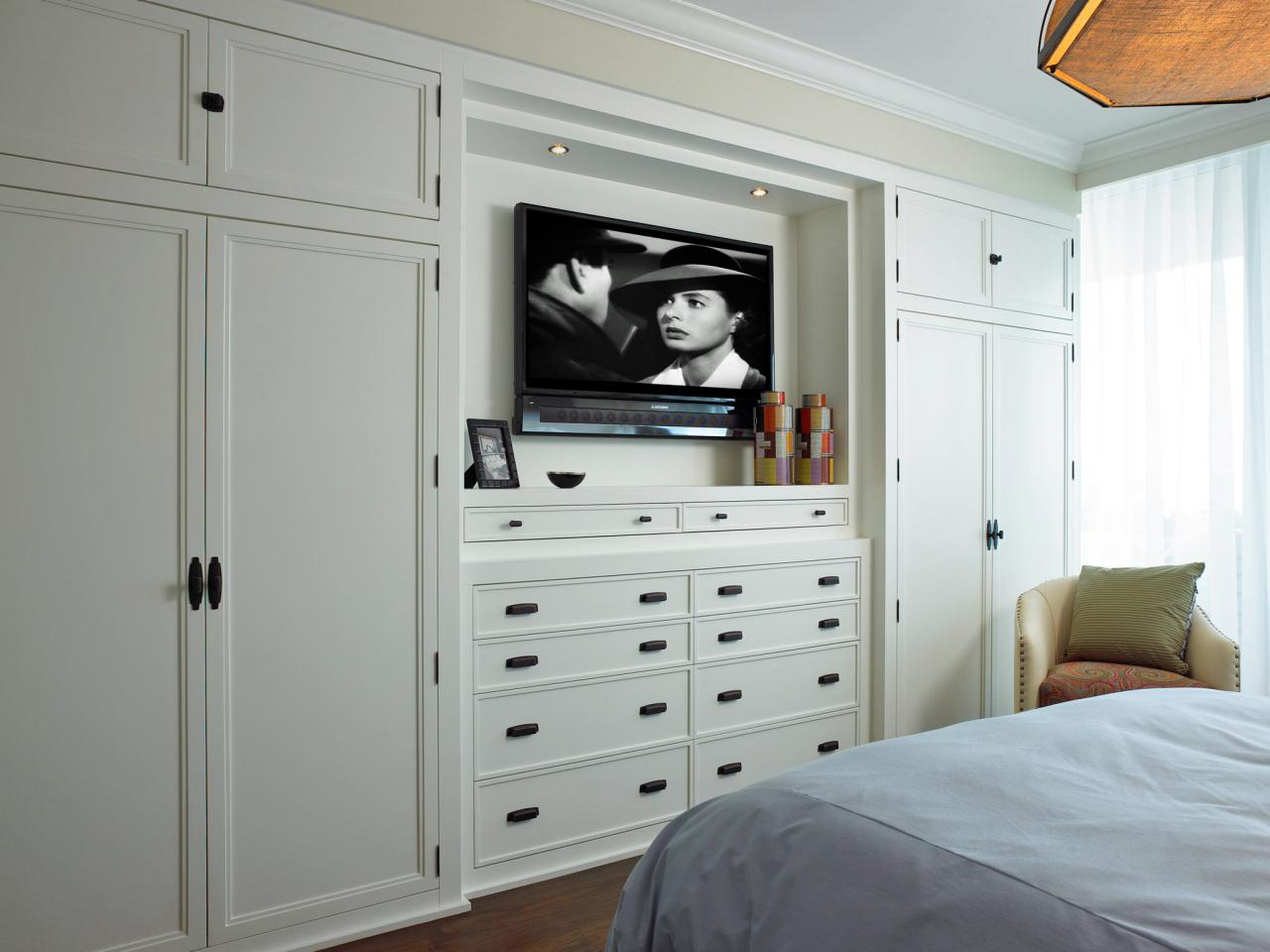 Photos hgtv for Bedroom wall units with wardrobe for small room