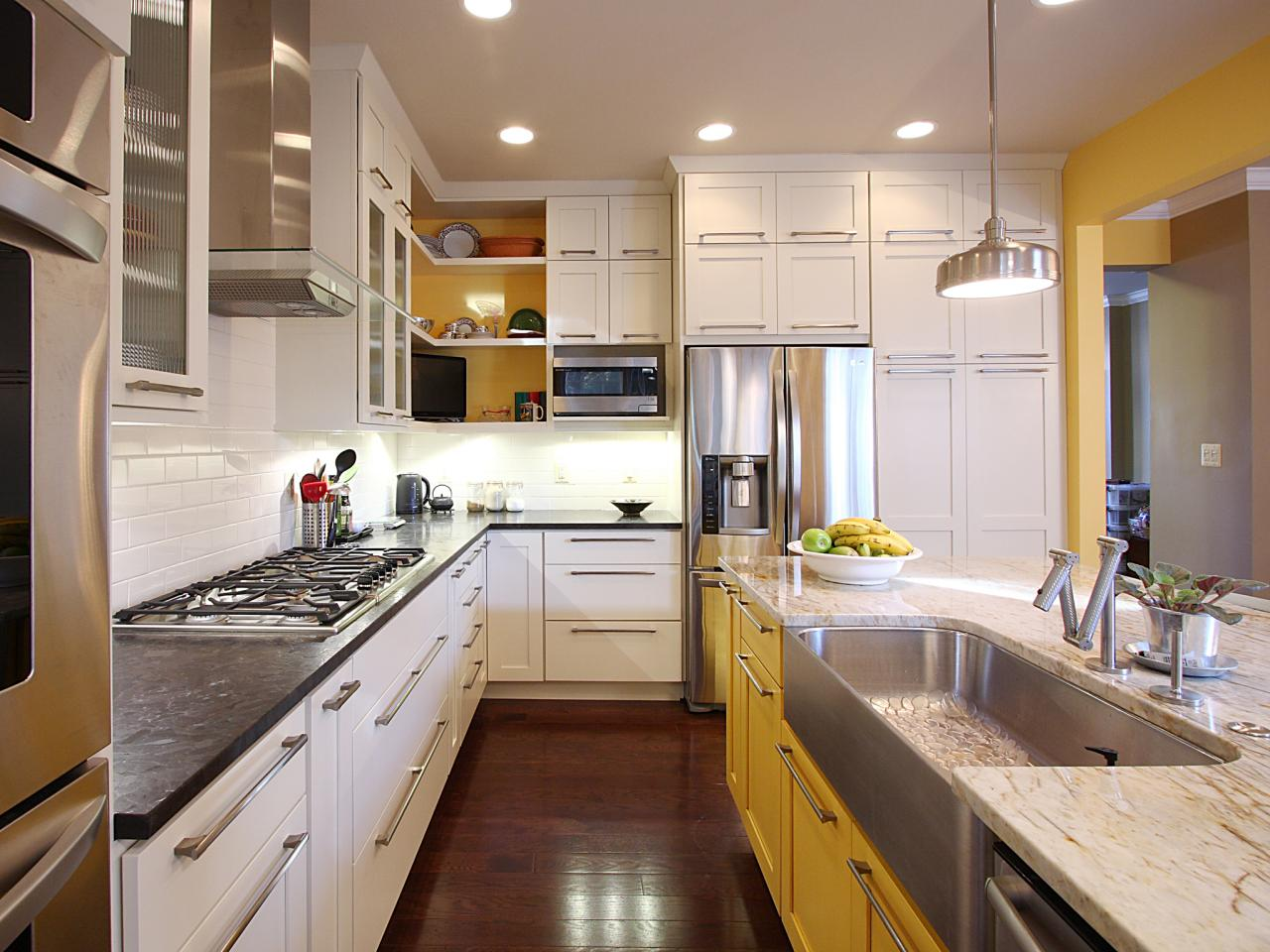 DIY Painting Kitchen Cabinets Ideas + Pictures From HGTV ...