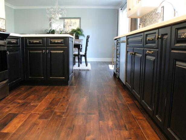 Traditional Kitchen and Dining Room With a Hardwood Floor