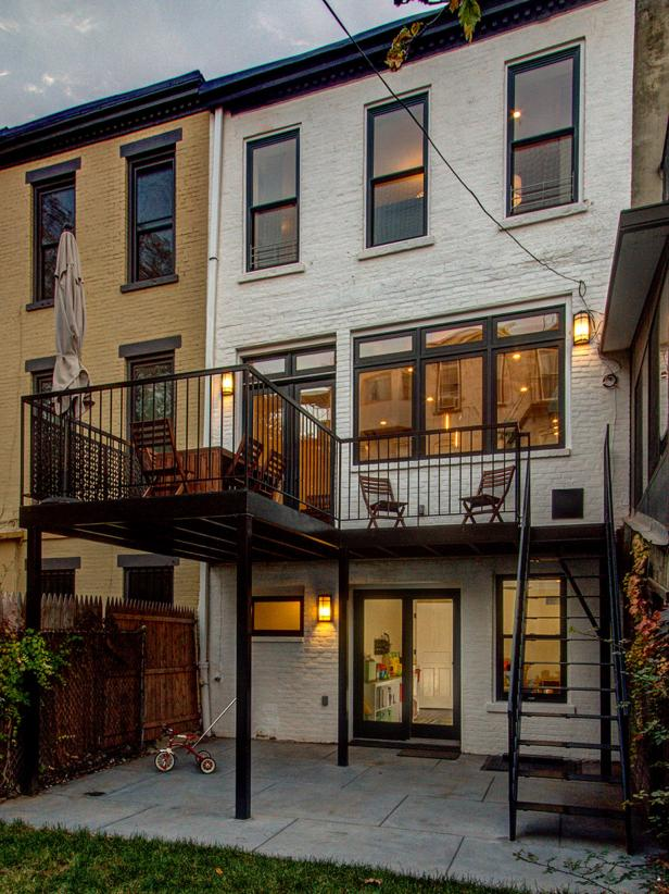 Rear Facade of Brooklyn Brownstone Home