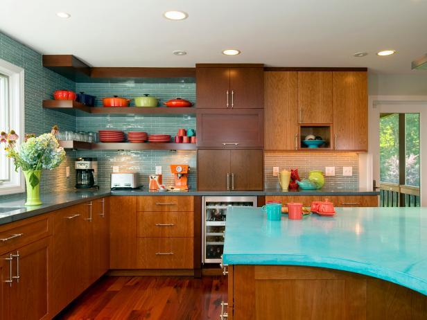 Photo page hgtv - Mid century kitchen cabinets ...