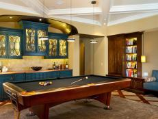 Contemporary Billiard Room