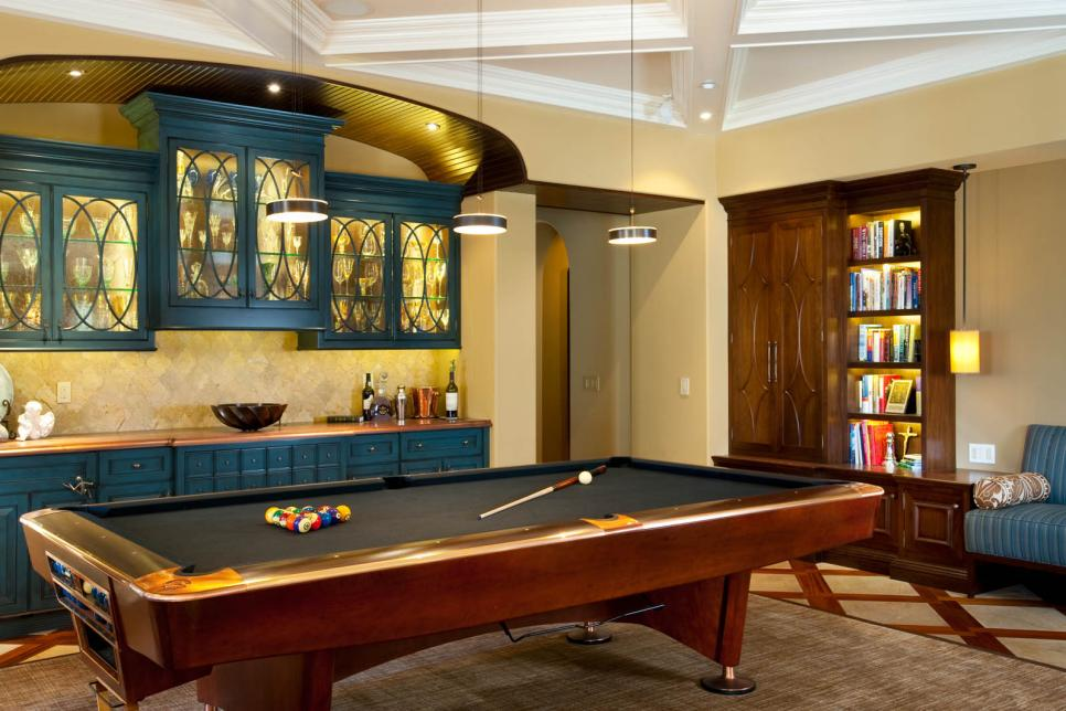 Game room design game room ideas gallery hgtv Cool gaming room designs
