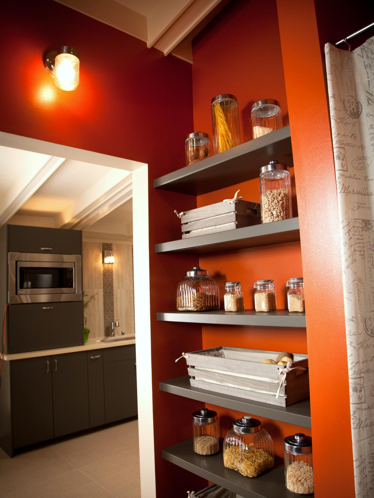 Wood Shelves In Laundry Room For Pantry And Storage Hgtv