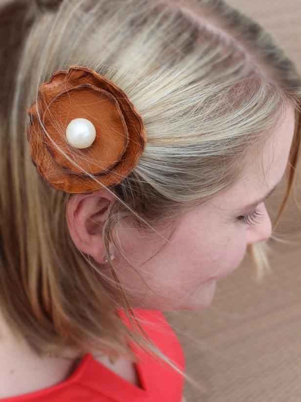 DIY Leather Flower Clip