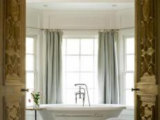 Freestanding Tub in Traditional Spa Bathroom
