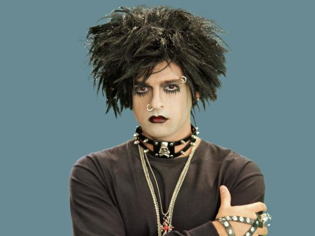 Adult Goth Rocker Halloween Make-Up & Accessories