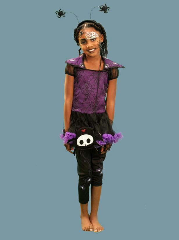 Spider Halloween Costume and Makeup