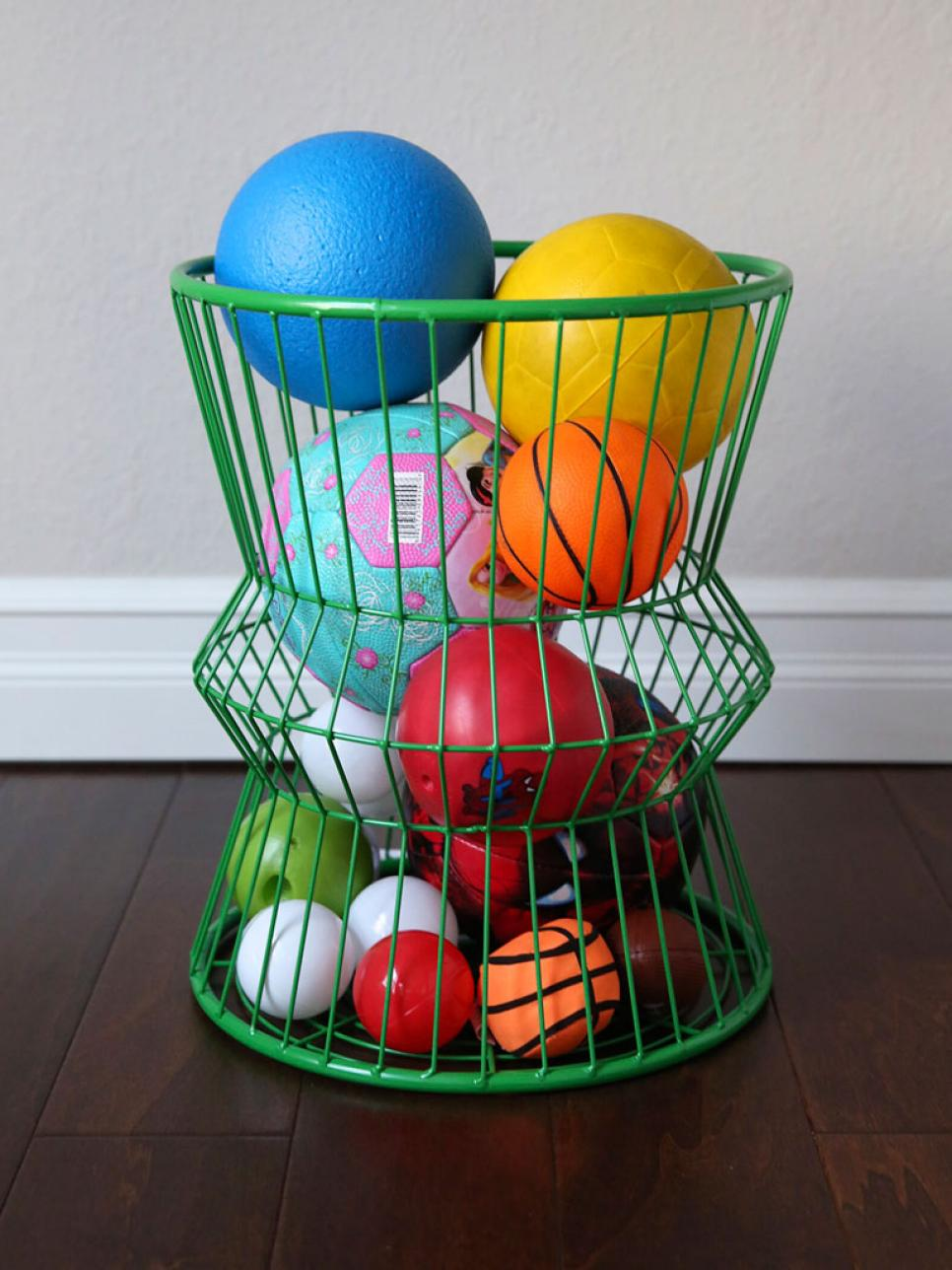 Kids playroom storage ideas repurposed kids playroom for Baskets for kids room