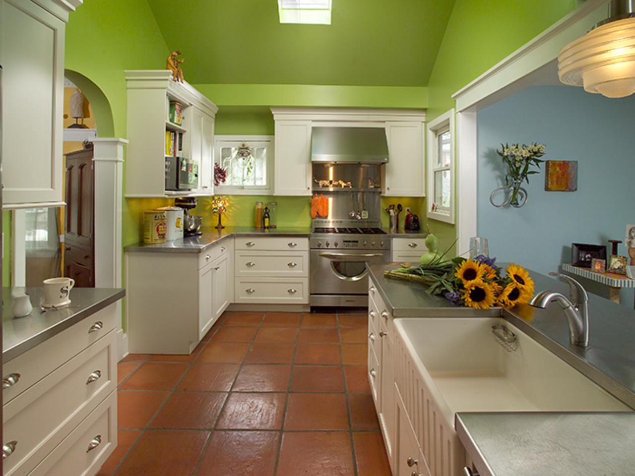 Bright Green Kitchen Makeover Laura Dalzell Hgtv