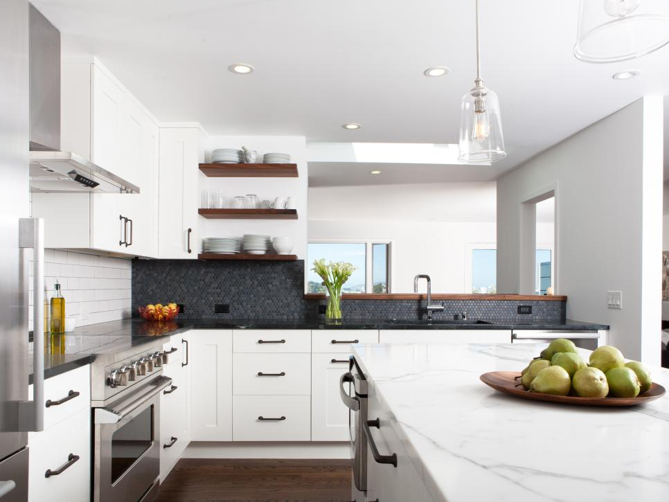 Industrial modern white kitchen 2014 hgtv Baker group kitchen design