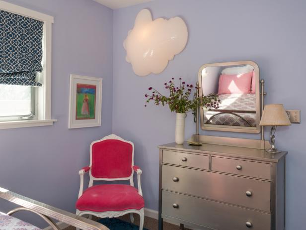 Girl's Bedroom With Custom Furnishings