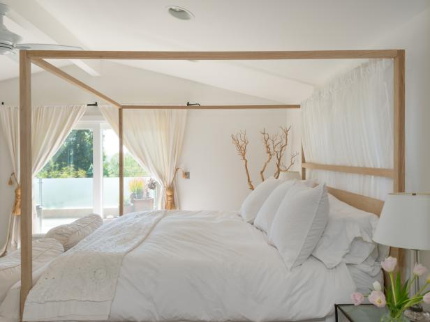 White Transitional Bedroom With Subtile Brown Accents