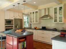 Contemporary Kitchen With White Subway-Tile Backsplash