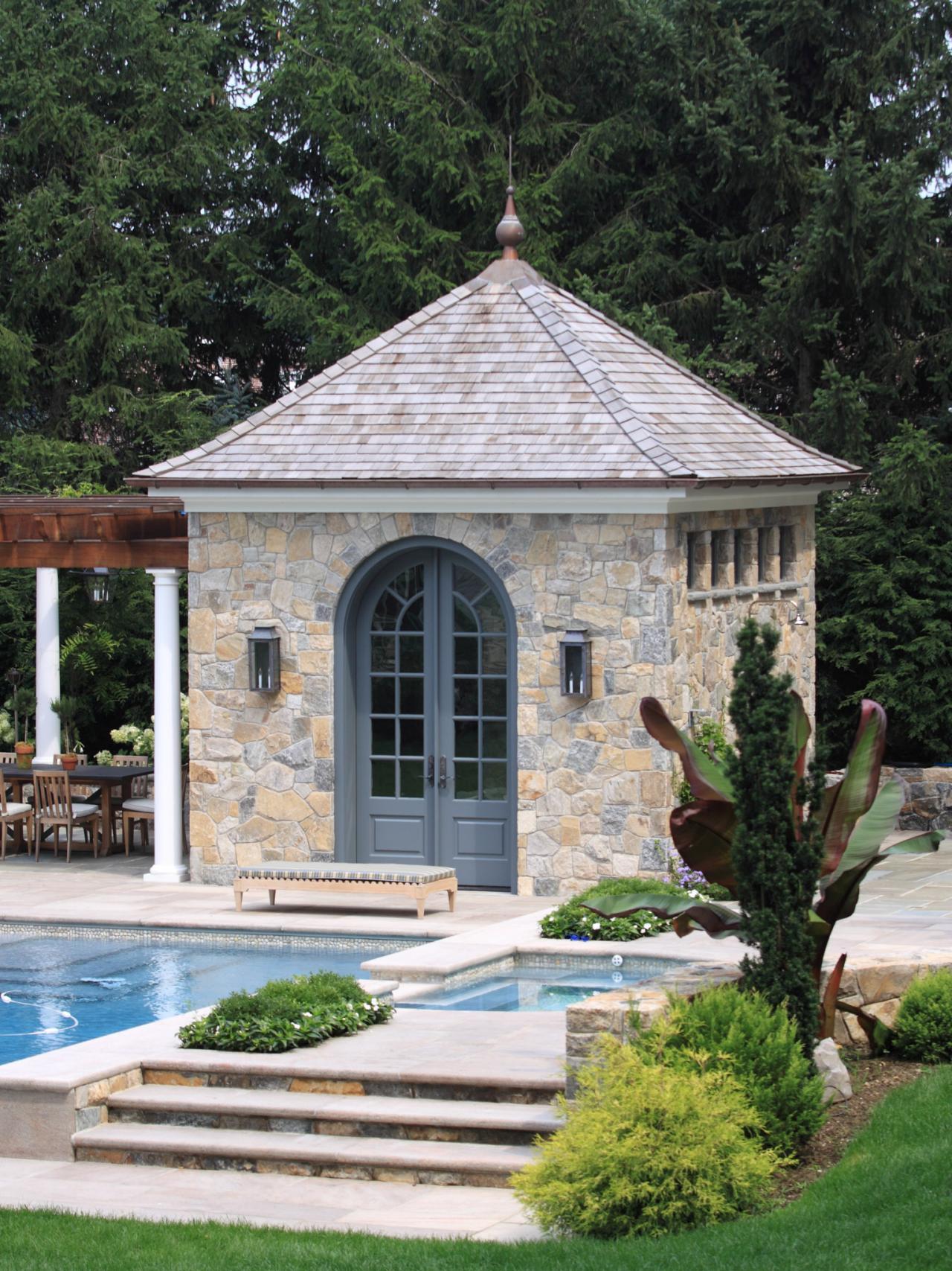 Beautiful Backyard Landscaping And Pool Janice Parker Hgtv