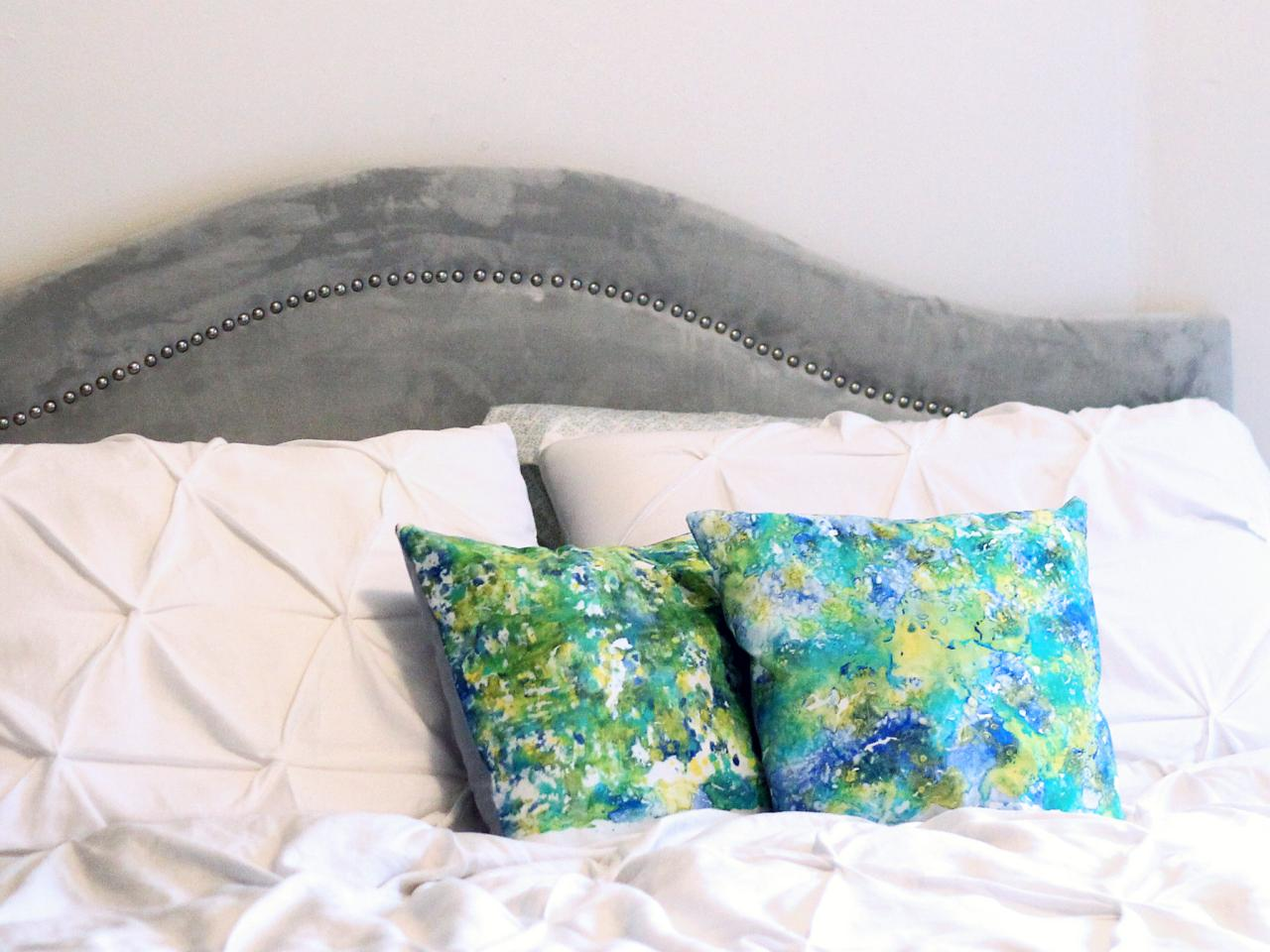 Make A Marbled Fabric Pillow Cover Hgtv