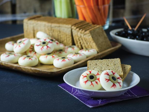 Serve Cheesy Eyeballs for Halloween