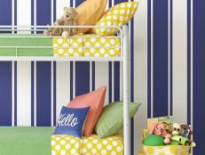 Ticking Stripes in a Kid's Bedroom