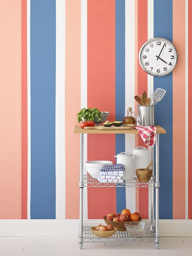Painting Multicolored Stripes On A Wall Hgtv