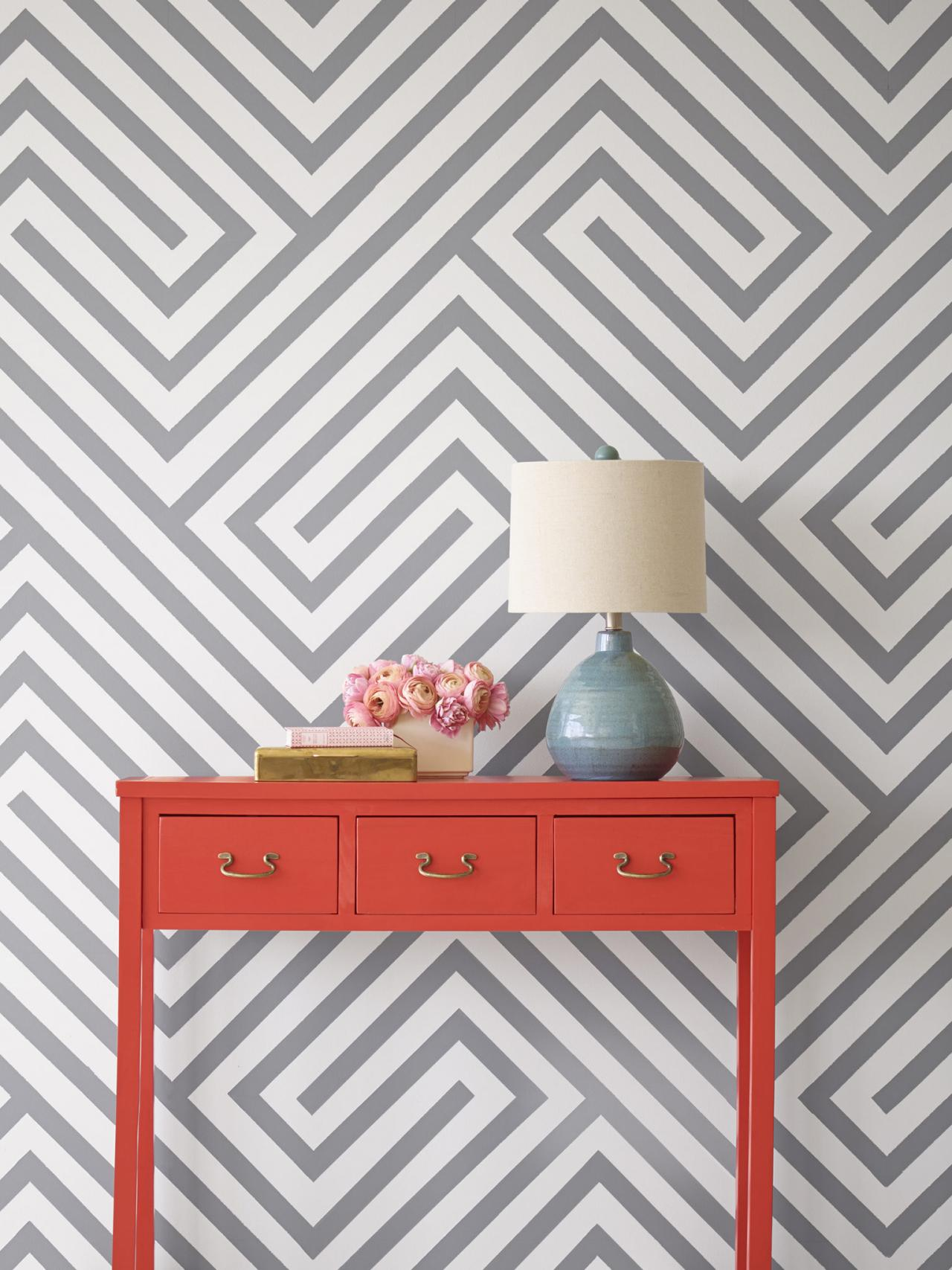 Wall Paint Design Stripes : Painting diagonal stripes on a wall hgtv
