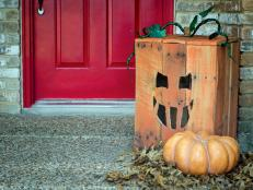 Pallet Jack-o'-Lantern Head: Beauty 1