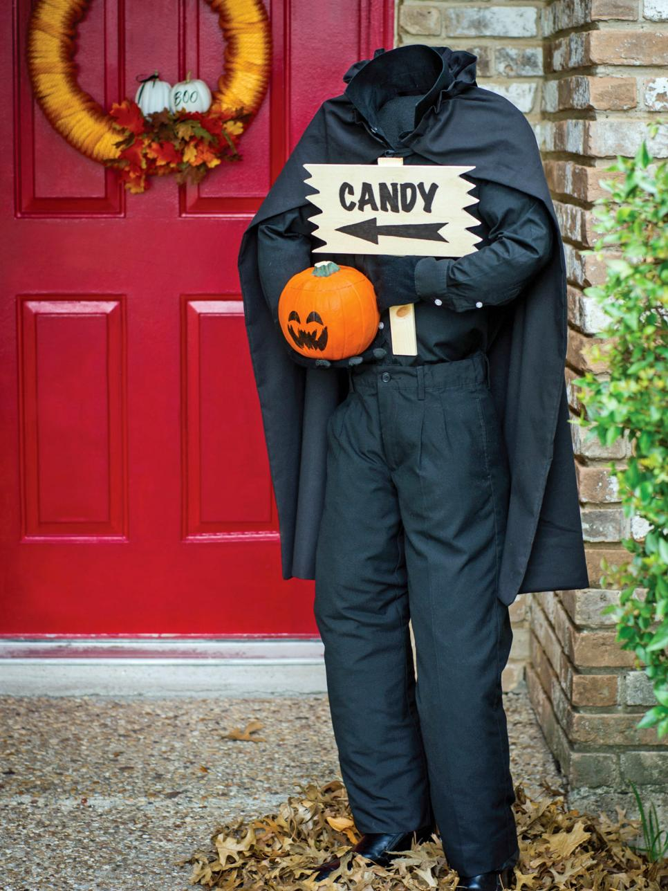 60 diy halloween decorations decorating ideas hgtv - Homemade Halloween Decorations Ideas