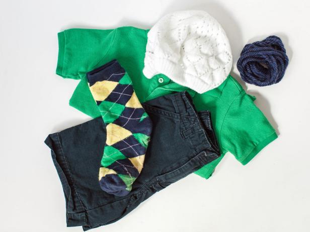 Golfer Costume: Materials