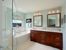 Serene Bathroom With Double Vanity