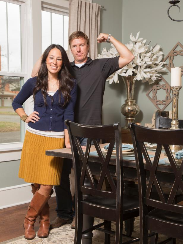 Chip and Joanna Gaines in Dining Room