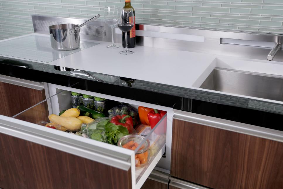 Innovative small kitchen design ideas hgtv for Small kitchen solutions design