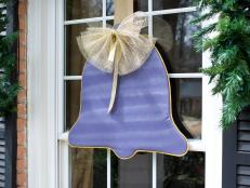 Holiday Bell-Shaped Window Ornament