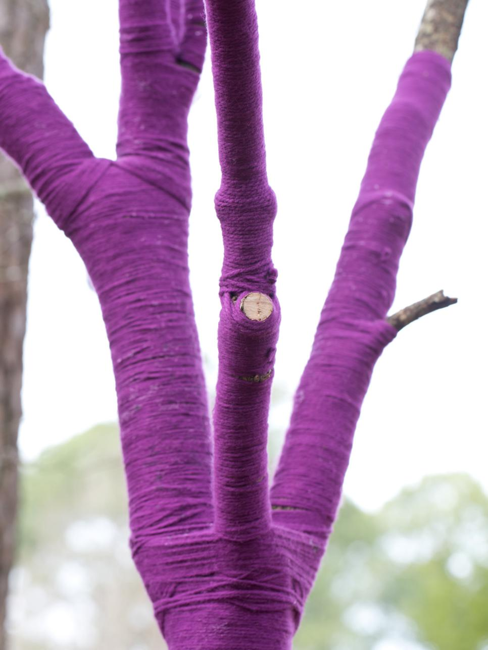 How To Wrap A Tree In Yarn Hgtv