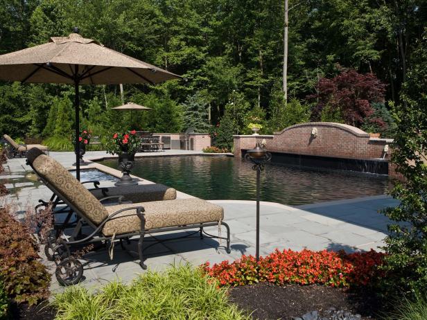 Mediterranean Inspired Backyards : Backyard Stuns With Mediterraneanstyle Pool  Beechwood Landscape