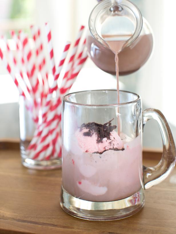 Peppermint Ice Cream Hot Chocolate