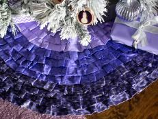 No-Sew Christmas Tree Skirt
