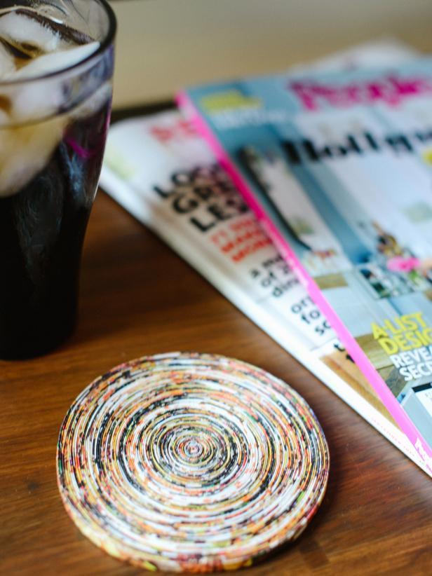 DIY Magazine Coasters