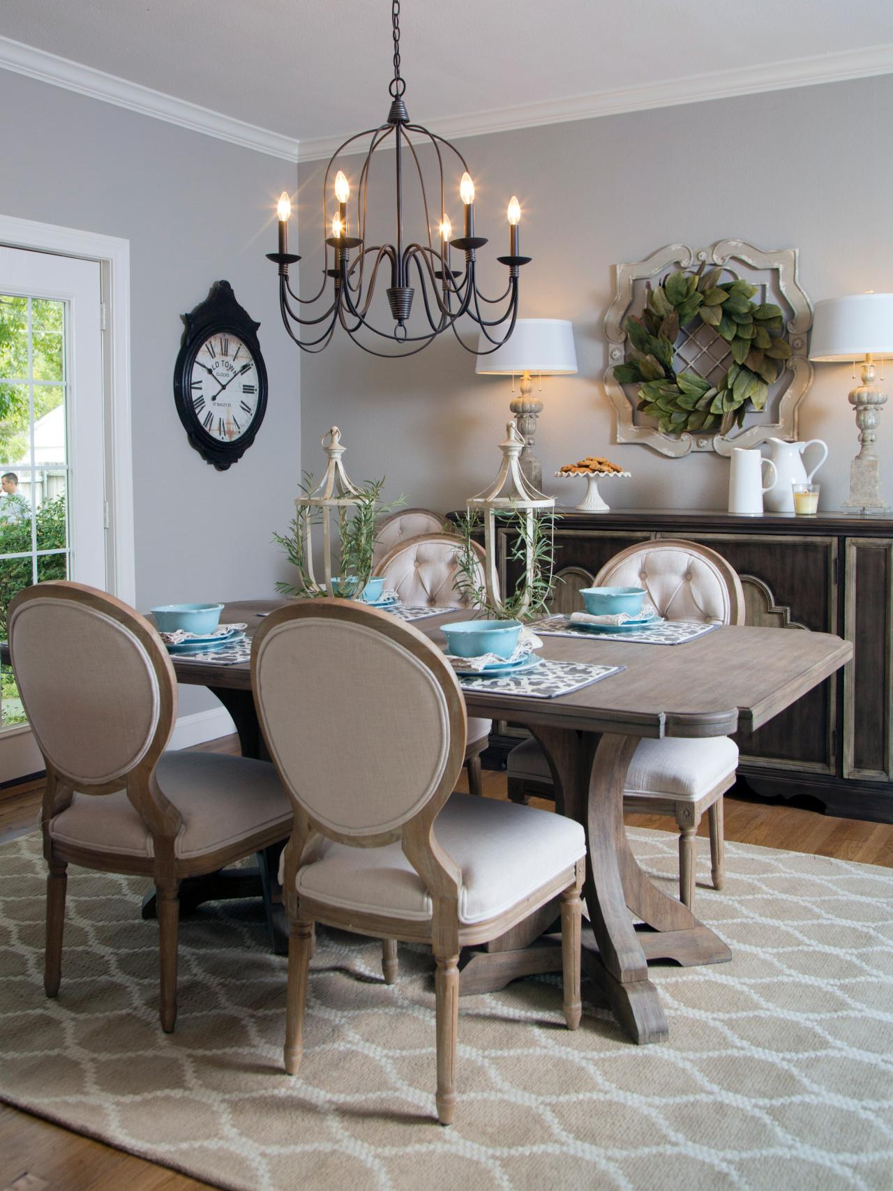 Photos hgtv for Dining room table decor
