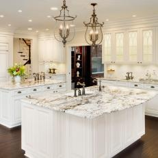 Elegant White Kitchen With Transitional Style