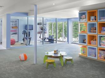 Colorful Playroom & Gym