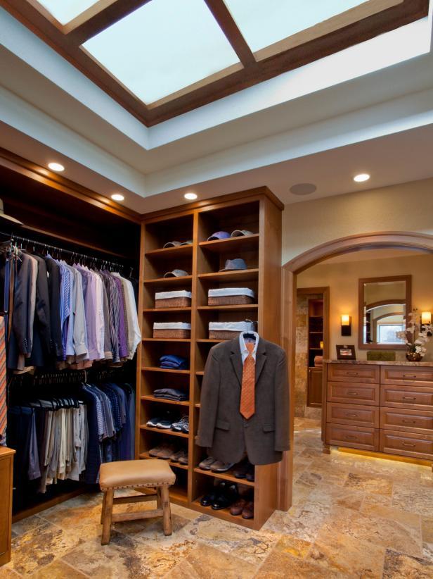 16 Stylish Men S Walk In Closet Ideas Hgtv