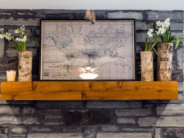 Rustic Mantel Art