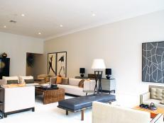 Loft Living Room Feels Modern, Simple