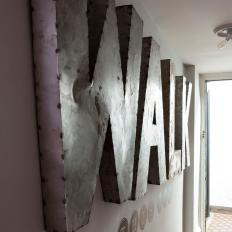 Large Metal Wall Letters photos | hgtv