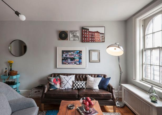 Eclectic West Village Living Room